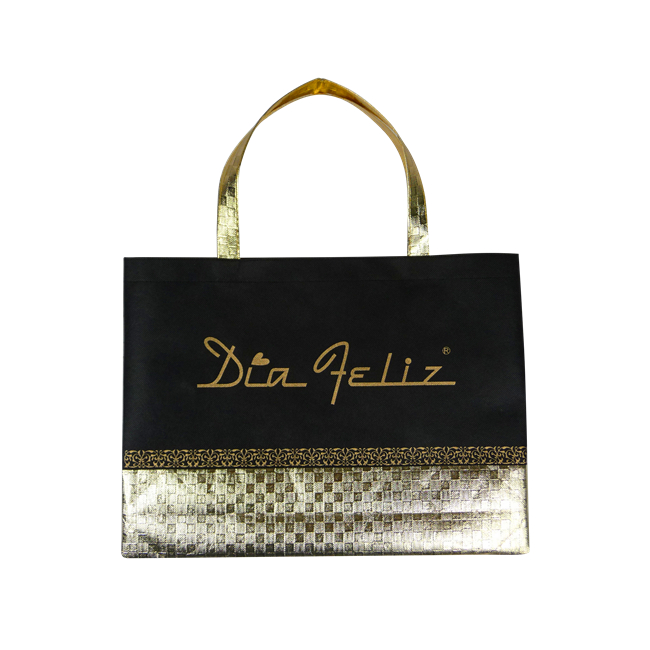 Gold Nonwoven Shopping Bag